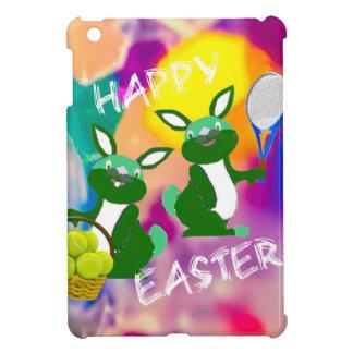 Rabbits enjoy with tennis balls in Easter season iPad Mini Cases