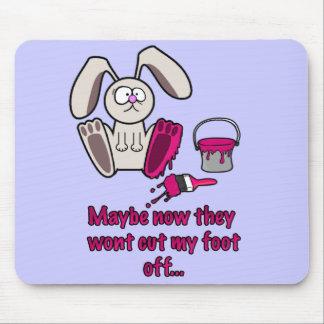 Rabbits Foot Funny Cartoon Mouse Pad