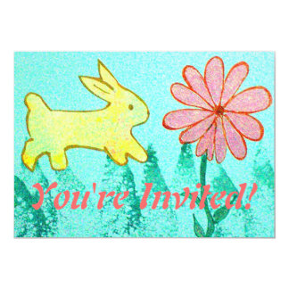 Rabbit's Garden 5x7 Paper Invitation Card
