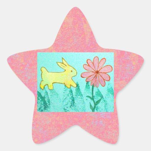 Rabbit's Garden Star Sticker