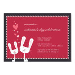 Rabbits in Love   Valentine's Party Invitation