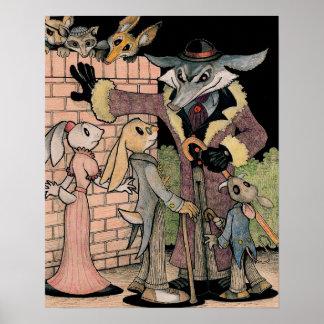 Rabbits in Peril Poster