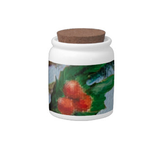 Rabbits in Snow Candy Jar