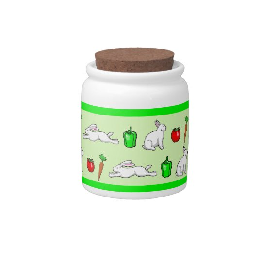 Rabbits in the Vegetable Garden Candy Dish