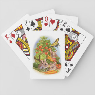 Rabbits in the Vegetable Garden Playing Cards