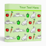 Rabbits in the Vegetables Cartoon Pattern Binder
