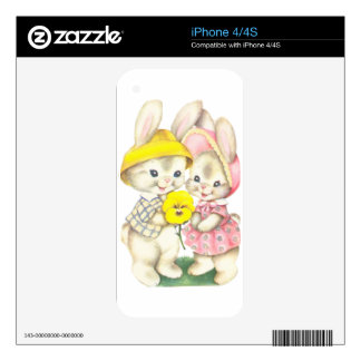 Rabbits iPhone 4S Skin