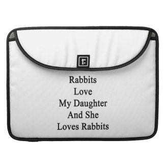 Rabbits Love My Daughter And She Loves Rabbits MacBook Pro Sleeve