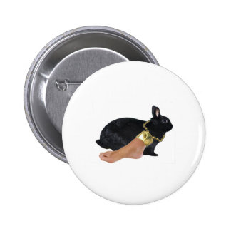 Rabbit's Lucky Human Foot 2 Inch Round Button