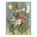 Rabbits Night Out Post Card