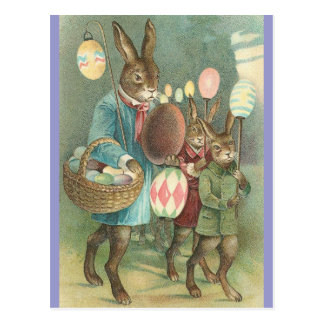 Rabbits Night Out Postcard