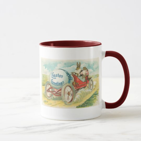 Rabbits on a Sunday Drive - Easter Gift Mug