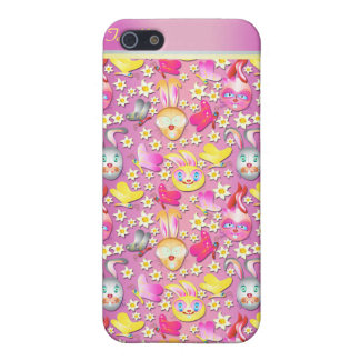 Rabbits pern cute girly pink  iPhone SE/5/5s cover