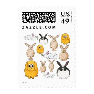 Rabbits. Postage