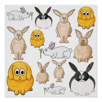 Rabbits. Poster