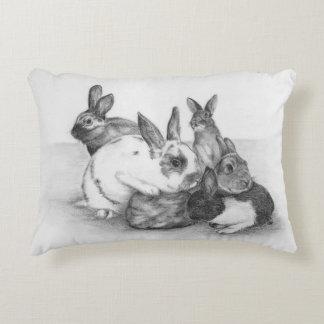 Rabbits, Rabbits and More Rabbits Pillow