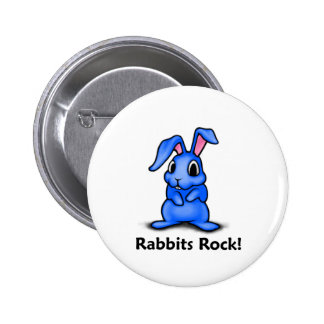 Rabbits Rock! 2 Inch Round Button