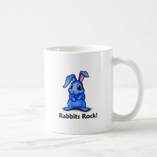 Rabbits Rock! Classic White Coffee Mug