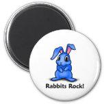 Rabbits Rock! Fridge Magnets
