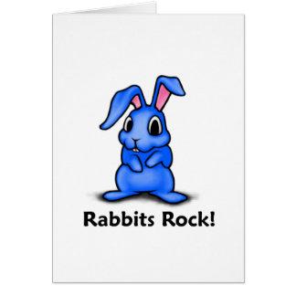 Rabbits Rock! Greeting Card