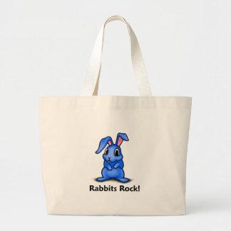 Rabbits Rock! Jumbo Tote Bag