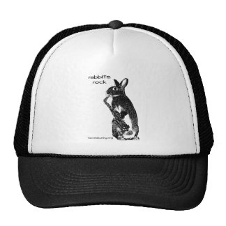 Rabbits Rock! Mesh Hat