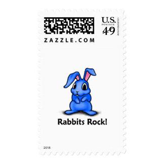 Rabbits Rock! Postage Stamp