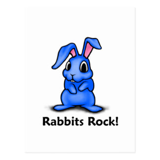 Rabbits Rock! Postcard