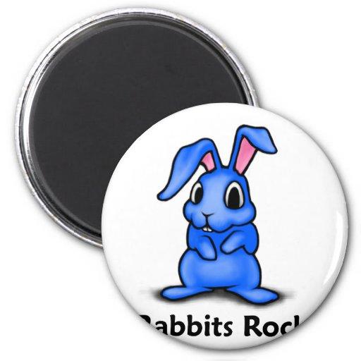 Rabbits Rock! Refrigerator Magnet