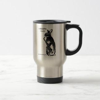 Rabbits Rock! Travel Mug