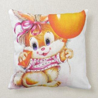 Rabbits Throw Pillows