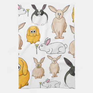 Rabbits. Towels