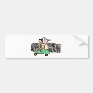 Rabbits travel car bumper sticker