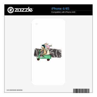 Rabbits travel decal for the iPhone 4