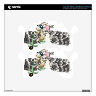 Rabbits travel PS3 controller decal