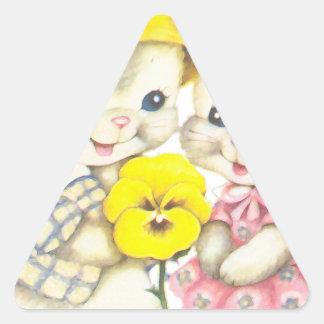Rabbits Triangle Sticker