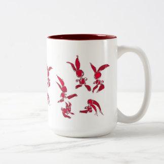 Rabbits Two-Tone Coffee Mug