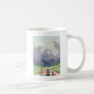 Rabbits Under Dark Clouds Coffee Mug