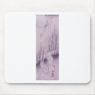 Rabbits Under Moon by Hiroshige Mouse Pad