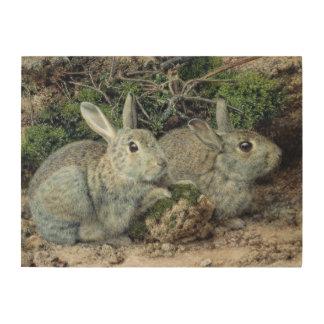 Rabbits Wood Wall Art