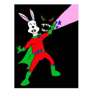 RabbitStar colour Postcard