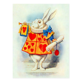 Rabbitt Alice Wonderland - Postcard / Invitation
