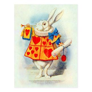 Rabbitt Alice Wonderland ~ Postcard / Invitation