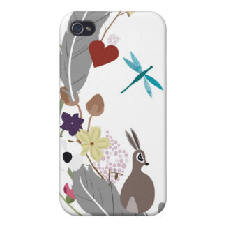 Rabbitt and feathers Speck Case iPhone 4/4S Case