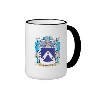 Rabbitt Coat of Arms - Family Crest Ringer Coffee Mug