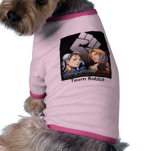 RabbitT, conejo del equipo Camisetas De Perro