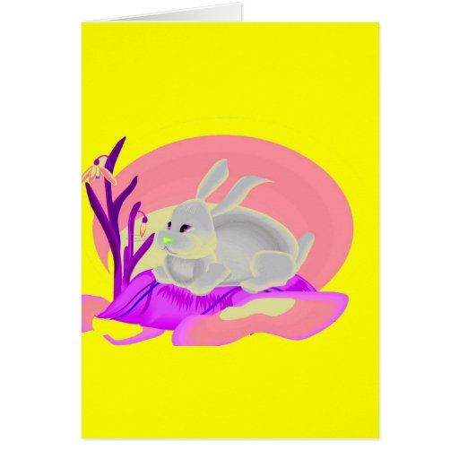 RABBITT WITH FLOWERS CARDS