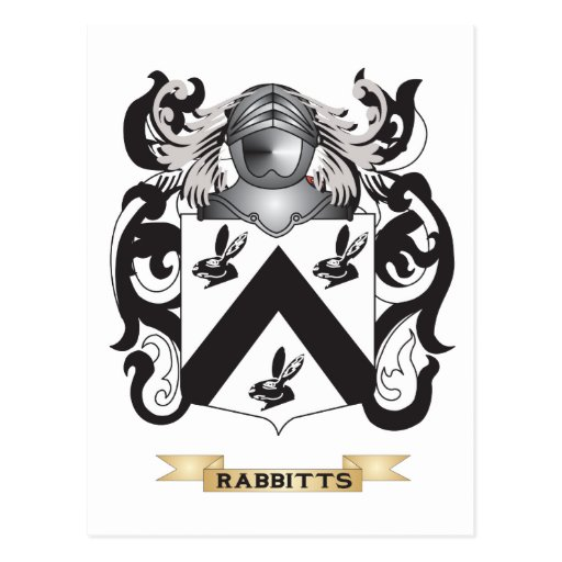 Rabbitts Coat of Arms (Family Crest) Postcards