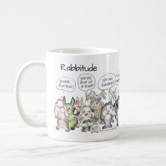 Rabbitude 19 Cartoon Rabbits Coffee Mug