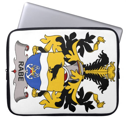Rabe Family Crest Computer Sleeve
